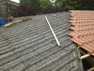 Rimozione tetti e tettoie in eternit cemento amianto - ricopertura con tegole